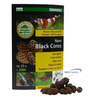 Dennerle Nano Black Cones Erlenzapfen