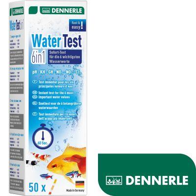 Dennerle Aquaristik Wassertest 6in1 50 Teststreifen