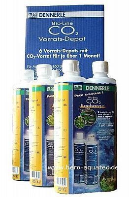 Dennerle CO2 Bio Vorrats-Depot Megapack 6 Flaschen