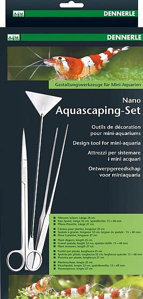 Dennerle Nano Aquascaping-Set m. Schere, Spatel u. Pinzette