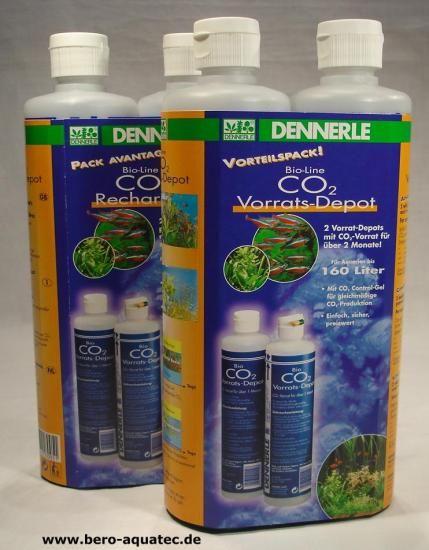 Dennerle CO2 Bio Vorrats-Depot Großpack 4 Flaschen