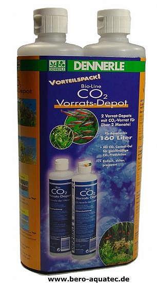 Dennerle CO2 Bio Vorrats-Depot Vorteilspack 2 Flaschen