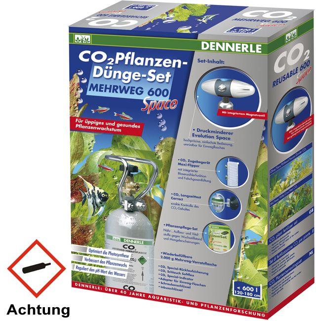 Dennerle CO2 Anlage Mehrweg 600 Space 2 kg