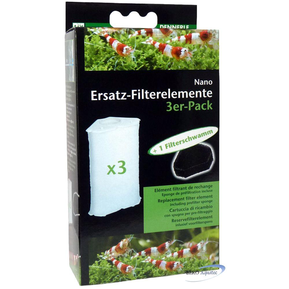 Dennerle Clean Filterelement 3er Pack f. Nano Eckfilter