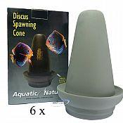 Aquatic Nature Diskus Ablaichkegel Ton 6 Stück