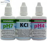 EichSet Dennerle pH4, pH7, KCL je 50 ml