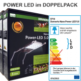 Dennerle DUO Nano Power LED 5.0 2x Aufsteckleuchte (AQ 30-60l)